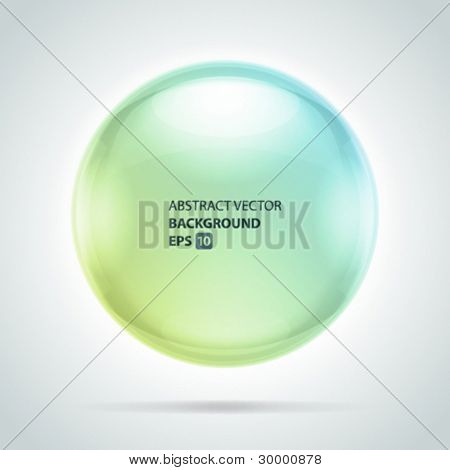 Abstract bubble vector background with transparent shadow. Eps 10.