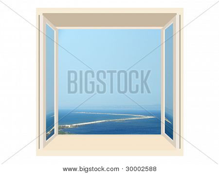 Window With A View Of The Sea