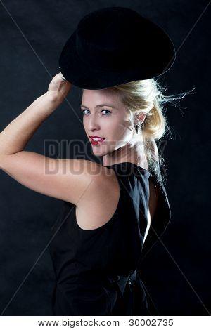 Cute Twenties Caucasian Blond Fashion Woman