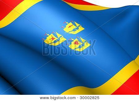 Flag Of Nordfriesland, Germany.