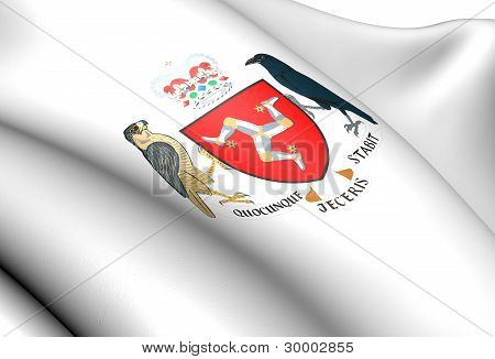 Isle of Man Coat of Arms. Close Up. poster