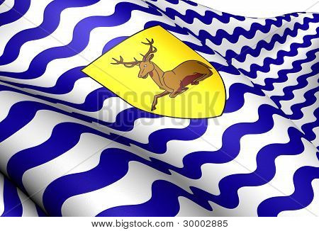 Flag Of Hertfordshire, England.