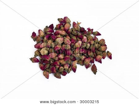 Pile of dried rose buds