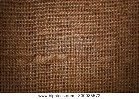 Jute Hessian Sackcloth Canvas Woven Texture Pattern Background With Natural Gradienten Light