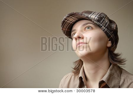 Young Woman Daydreaming