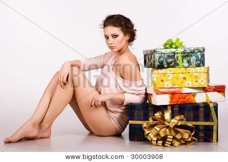 a beautiful young girl with a gifts