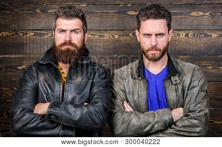 Brutality Confidence And Masculinity Interconnection. Men Brutal Bearded Hipster. Exude Masculinity.