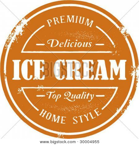 Vintage Style Ice Cream Stamp