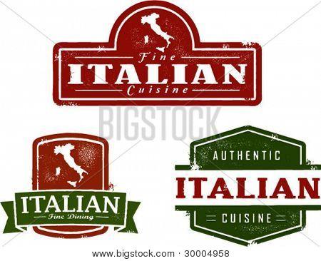 Vintage Style Italian Food Graphics
