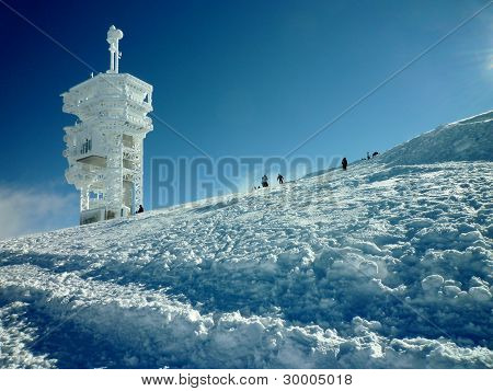 Tower stand at the peak of  Mt. Titlis - Luzern, Switzerland