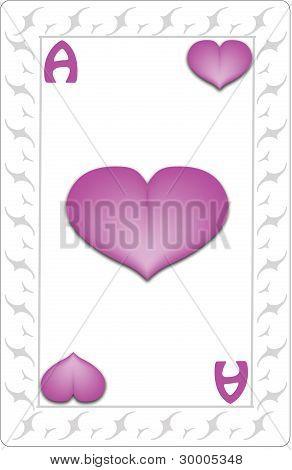 Ace Hearts Card