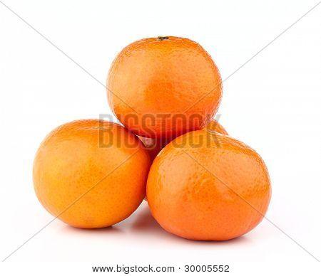 Heap of mandarin frouits