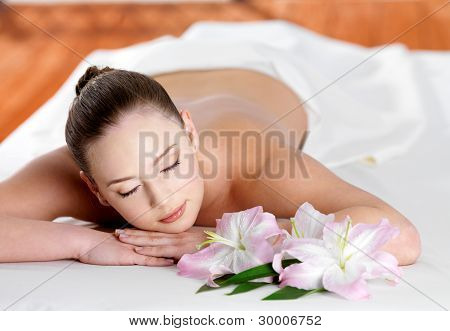Woman Joing And Relaxing In Spa Beauty Salon