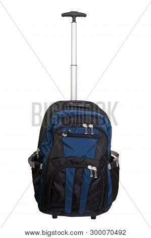 Rolling Backpack With Wheels Isolated On The White Background