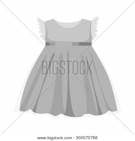 Isolated Object Of Dress And Child Symbol. Set Of Dress And Cute Vector Icon For Stock.