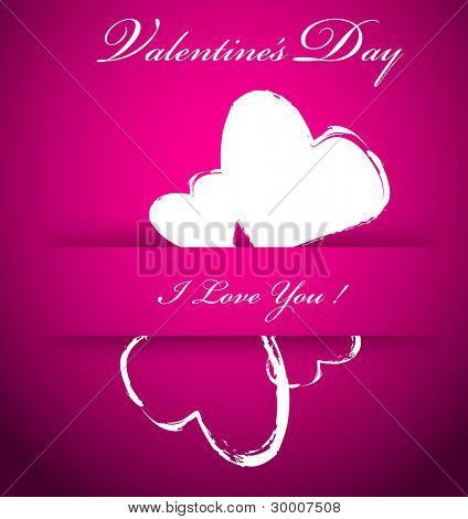 Purple vector Valentines background with hearts