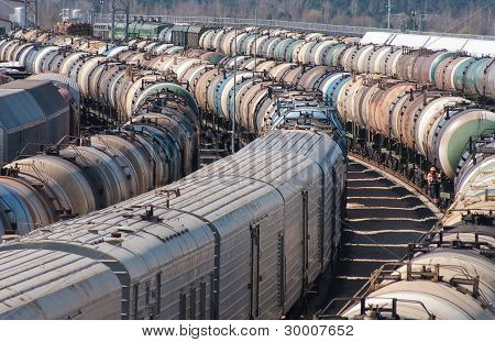 Cargo Station On The Railroad