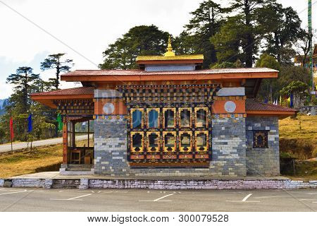The Entrance Architecture Of Druk Wangyal Monastery