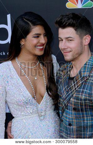 Priyanka Chopra and Nick Jonas arrive at the 2019 Billboard Music Awards at the MGM Grand Arena in Las Vegas, NV on May 1, 2019.