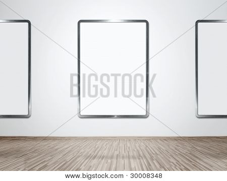 Gallery With Blank Frames