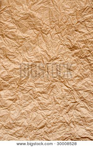 Crumpled brown parcel paper texture