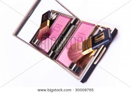 blush with brush isolated