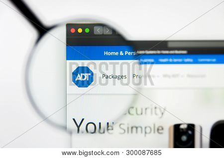 Richmond, Virginia, Usa - 8 May 2019: Illustrative Editorial Of Adt Inc Website Homepage. Adt Inc Lo