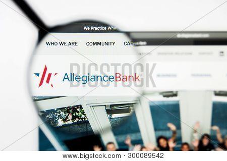 Richmond, Virginia, Usa - 8 May 2019: Illustrative Editorial Of Allegiance Bancshares Inc Website Ho