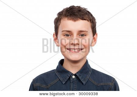 Cute Boy Isolated On White