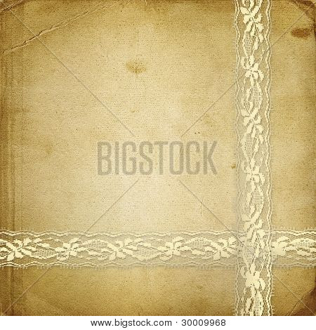 Beautiful Abstract Background With Gold Lace For Congratulation Or Invitation
