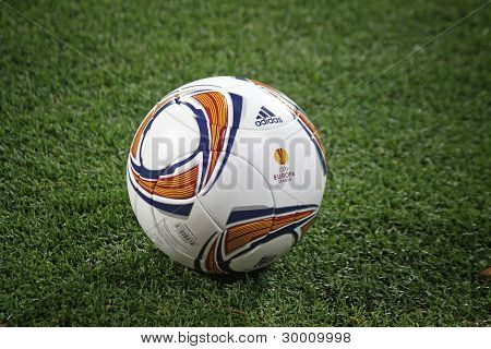 Close-up Soccer Ball On The Grass