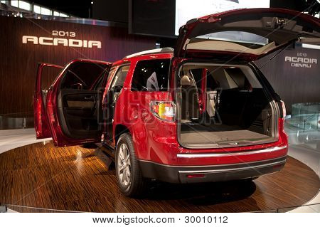 CHICAGO - FEB 12: The 2013 GMC Acadia on display at the 2012 Chicago Auto Show. February 12, 2012 in Chicago, Illinois.