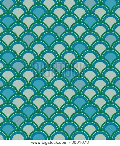 Scale Pattern In Blue
