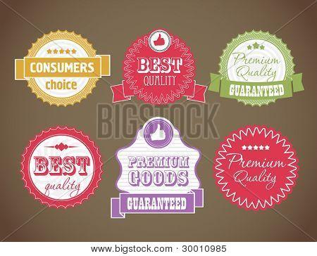 Vector vintage discount labels set