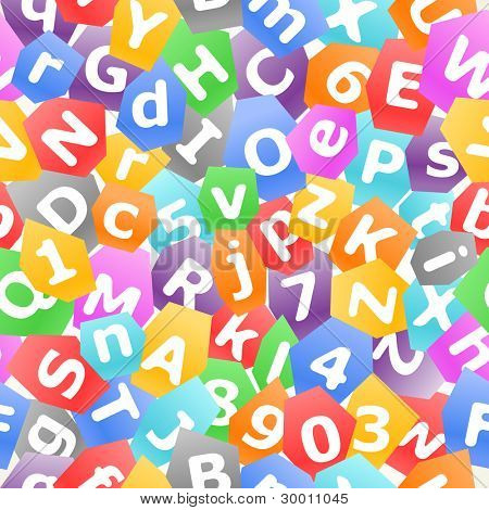 colorful vector letters seamless background