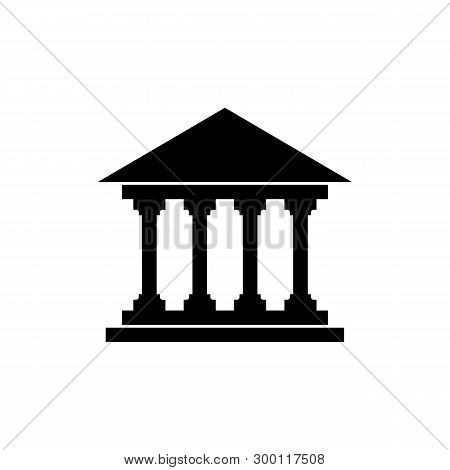 Public Museum Icon Isolated On White Background. Public Museum Icon Modern Symbol For Graphic And We