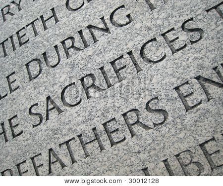 Memorial Inscription