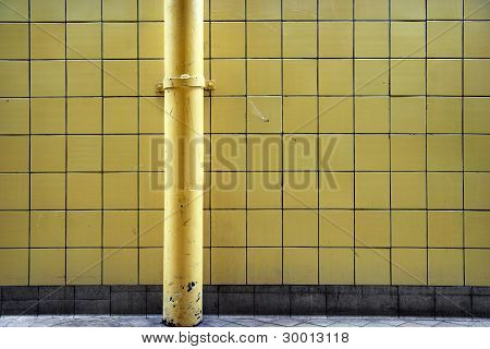 Wall With Metal Pipe