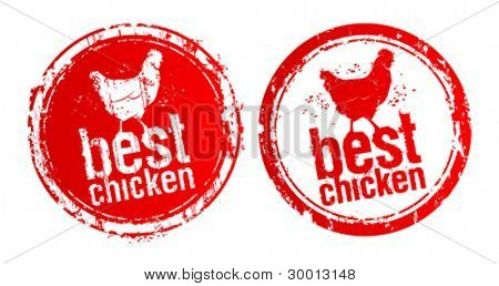 Best chicken vector stamps.