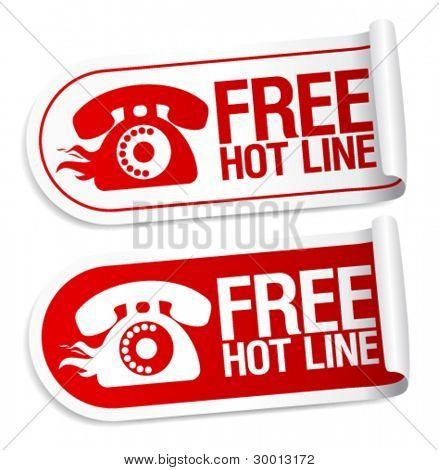 Free Hot Line stickers set.