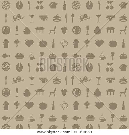 Restaurant Background, Vector Illustration