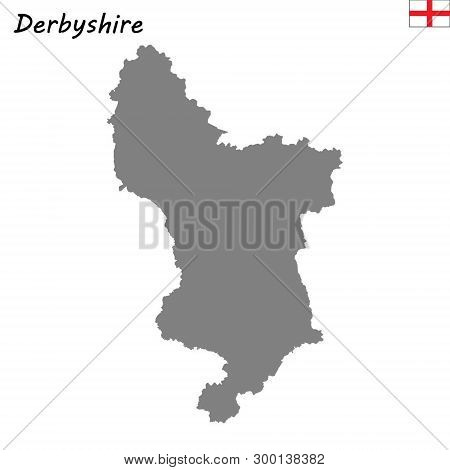 Map Of England Derbyshire.High Quality Map Vector Photo Free Trial Bigstock