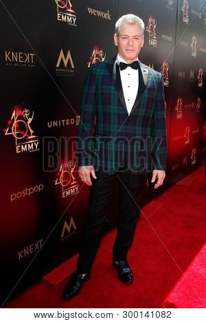 PASADENA - May 5: Kevin Spirtas at the 46th Daytime Emmy Awards Gala at the Pasadena Civic Center on May 5, 2019 in Pasadena, California