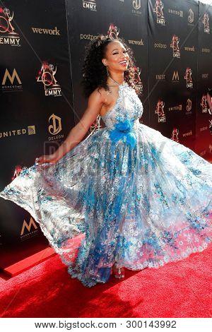 PASADENA - May 3: Monique Coleman at the 46th Daytime Creative Arts Emmy Awards Gala at the Pasadena Civic Center on May 3, 2019 in Pasadena, California