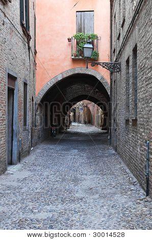 Via delle Volte. Ferrara. Emilia-Romagna. Italy.