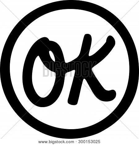 Ok Symbol - Retro Ad Art Banner