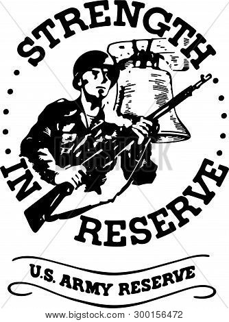 Strength In Reserve - Retro Ad Art Banner