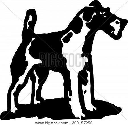 Terrier Dog 2 - Retro Ad Art Illustration