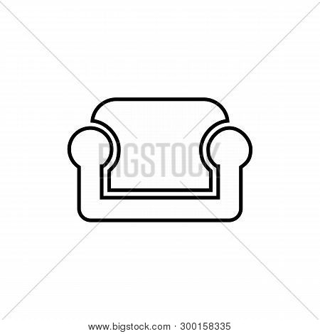Sofa Icon In Trendy Design Style. Sofa Icon Isolated On White Background. Sofa Vector Icon Simple An