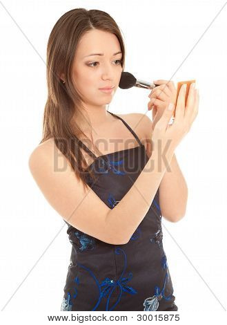 Woman Doing Her Make Up